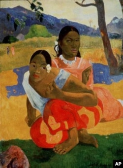 "French artist Paul Gauguin's 1892 oil painting, ""Nafea Faa Ipoipo"" (""When Will You Marry?"")"
