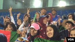 شماری از طرفدران تیم ملی کریکت افغانستان