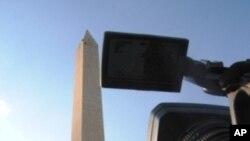 ภารกิจเสี่ยงตายของทีมสำรวจความเสียหายอนุสาวรีย์จอร์จ วอชิงตันใช้เชือกโรยตัวทำงานบนความสูง 169 เมตรเกือบเทียบเท่าตึก 50 ชั้น