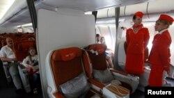 Hành khách ngồi trên một chuyến bay của hãng hàng không Aeroflot.
