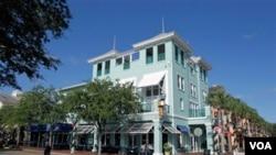 El pueblo de Celebration conforma una comunidad de 11.000 habitantes en el estado de Florida.