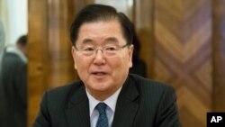 정의용 한국 청와대 국가안보실장.