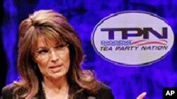 前共和党副总统候选人佩林在田纳西州纳什维尔市茶党第一次全国大会上发言