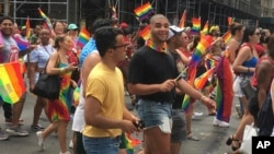 La Gay Pride de New York, Etats-Unis, le 24 juin 2018.