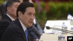 Ông Mã Anh Cửu công bố sáng kiến hòa bình về biển Đông hồi tháng Năm vừa qua.