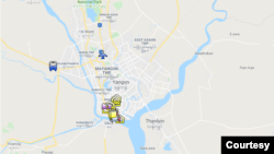 Yangon (Google Map)