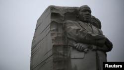 FILE - The Martin Luther King Jr. Memorial in Washington, Jan. 18, 2015.