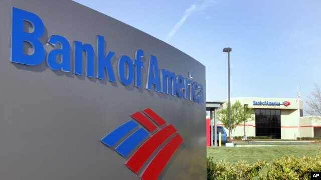 FILE - Bank of America will pay a record fine of nearly $17 billion for selling bad housing loans. Shown here is a branch in Charlotte, North Carolina.