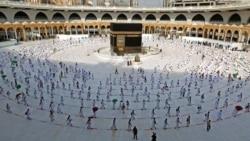 "Suasana ibadah haji ""terbatas"" tahun 2020 (foto: dok). Tahun ini Saudi kembali membatasi ibadah haji hanya untuk warga Arab Saudi."