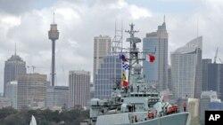 Kineska fregata 'Mianyang' u Sydneyu