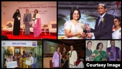 Sabrina Islam receiving various awards