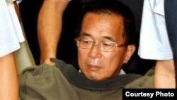 陈水扁在狱中做体检(照片由陈水扁办公室提供)