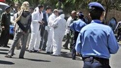 نیروهای امنیتی یمن در صحنه حمله به دیپلمات های بریتانیایی در صنعا