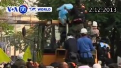 Cảnh sát Thái bắn hơi cay dập tắt biểu tình chống chính phủ (VOA60)