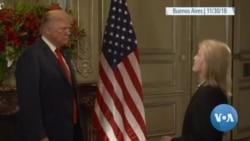 صدر ٹرمپ کا وائس آف امریکہ کو خصوصی انٹرویو