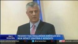 Kosovë: Presidenti Thaçi paralajmëron dorëheqjen