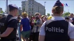 Brüksel'de NATO Protestosu