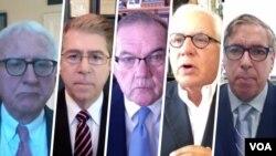 از راست: مارک گینزبرگ، رابرت توریسلی، تام ریج، لینکلن بلومفیلد و رابرت جوزف