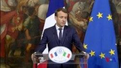"""Macron veut """"se garder des faux bons sentiments"""" sur les migrants (vidéo)"""
