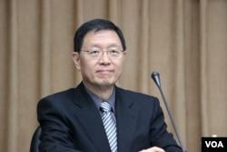 台湾财政部次长张璠(美国之音杨明拍摄)