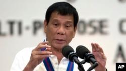菲律賓新總統杜特爾特資料照。