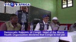 VOA60 Africa - WHO Chief: 'We Are Still at War' With Ebola