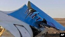 Restos del avión ruso de Metrojet que se estrelló en Egipto el 31 de octubre de 2015.