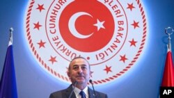 Turkish Foreign Minister Mevlut Cavusoglu says, Aug. 8, 2019, that Ankara will not allow plans for the establishment of the so-called safe zone to be stalled or delayed.