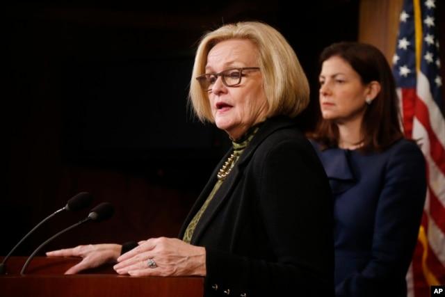 FILE - U.S. Senator Claire McCaskill, D-Mo.