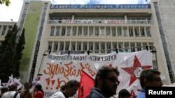 Протесты против закрытия телерадиокомпании ERT, Афины, 13 июня, 2013г.