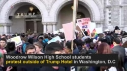 Wilson High School Students Protest Trump