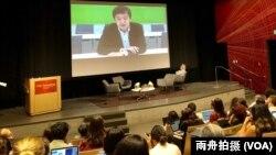 """香港中文大學新聞與傳播學院主任李立峰博士(Francis Lee)參加南加大美中研究所主辦的香港""""反送中""""專題討論"""