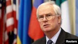 8월 유엔 안보리 의장국인 영국의 마크 리올 그란트 유엔주재 대사 (자료사진)