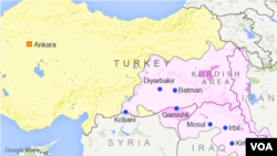 Turkey has focused its fighting in major Kurdish areas.