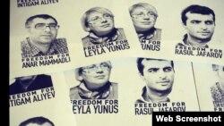 Siyasi məhbuslar (Foto Günay İsmayılovanın Facebook səhifəsindən götürülüb)