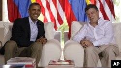Los presidentes Obama y Santos se reunieron en abril del año pasado en Cartagena, durante la VI Cumbre de las Américas.