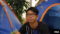 社工黃邦豪參加接力絕食反國教,希望香港下一代不要接受洗腦國民教育