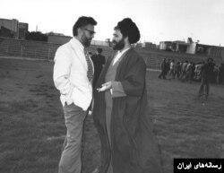 ابراهیم یزدی و احمد خمینی فرزند رهبر انقلاب ایران.