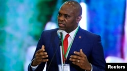 The head of Heir Holdings wants to kick-start hundreds of new jobs and businesses in Africa. Tony Elumelu (above) spoke in Abuja last April.