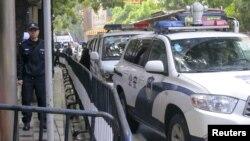 پولیس در شهر گوانگژو در جنوب چین (عکس از آرشیف)