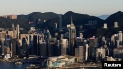 FILE - A general view of skyline buildings, in Hong Kong, China, July 13, 2021.