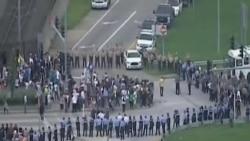 弗格森抗議者因非法集會遭拘留