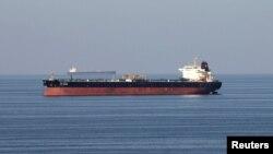 FILE - Oil tankers pass through the Strait of Hormuz, Dec. 21, 2018.