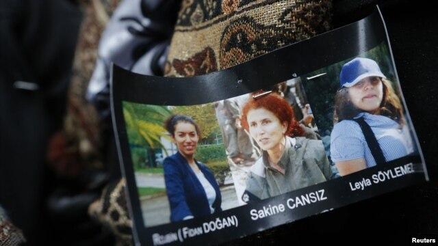 Parijda otib ketilgan kurd faollari, 10-yanvar, 2013-yil.