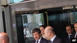 Turkish Foreign Minister Ahmed Davutoglu leaves the State Department in Washington, following talks with U.S. officials in the aftermath of an Israeli raid on aid convoy in eastern Mediterranean Sea
