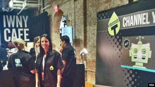 Sharon Strauss is at Internet Week to spread the word about Vitamin T, a company which connects people with ad agencies, Web development experts and design help.