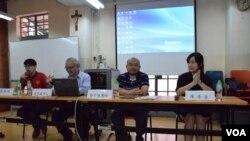 香港天主教正義和平委員會舉辦論壇,探討「政改袋住先」對香港的政制、社會發展有何影響。(美國之音湯惠芸)