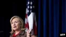 Dışişleri Bakanı Hillaryı Clinton Amerika'nın yeni internet stratejisini tanıtırken