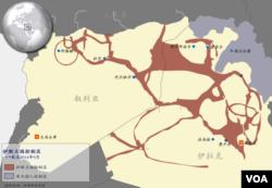 """""""伊斯蘭國""""在敘利亞和伊拉克控制區"""