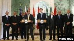 Sekretari Kerri mes delegacionit të Lidhjes Arabe